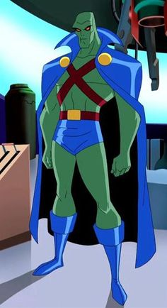 """""""Justice League""""/ """"Justice League Unlimited"""" animated J'onn J'onzz, voiced by Carl Lumbly"""