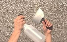 """Remove Popcorn Ceiling - my MBR project this week. Scraper in one hand, pan in the other to """"catch"""" the popcorn ceiling as it falls off for easy clean up. Removing Popcorn Ceiling, Home Repairs, Do It Yourself Home, Diy Home Improvement, Home Hacks, Home Staging, Painting Tips, Good To Know, Decorating Tips"""