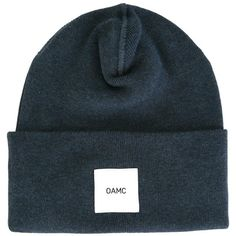 cda6aa024c769 Oamc logo patch beanie ( 87) ❤ liked on Polyvore featuring men s fashion