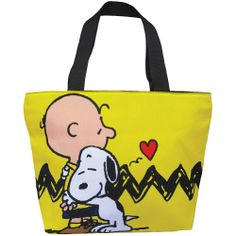 Peanuts Hug Tote Bag Charlie Brown Snoopy $25