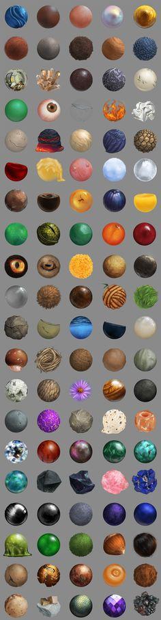 100 Material Studies by ThiaminaTenn on DeviantArt