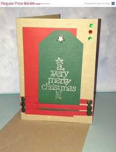 Kraft A Very Merry Christmas to You Card by JemLouProductions, $2.40