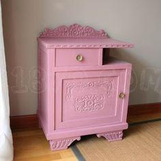 mesinha antiga cor de rosa