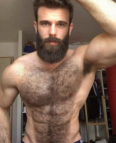 Beautiful body hair & beard