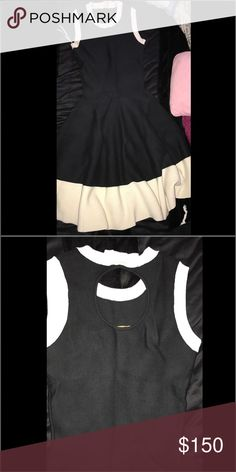 Kate Spade ♠️ Super cute and flattering dress from Kate Spade ♠️ circle and bow detail on back of dress, size small kate spade Dresses Midi