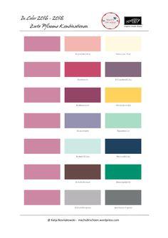 Zarte Pflaume - meine lieblings Farbkombinationen mit den neuen In Colors 2016-2018 von Stampin' Up!