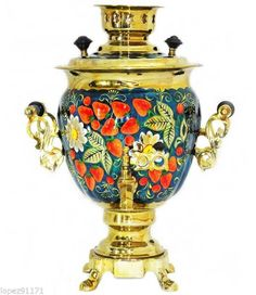 RUSSIAN MODERN ELECTRICAL TULA SAMOVAR KETTLE PAINTED 3L #4