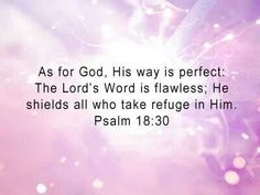 Psalms 18:30 As for God, His way is perfect; The word of the Lord is proven; He is a shield to all who trust in Him.  #Agrainofmustardseed #ReadScripturesAloud