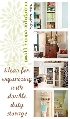 Tips for organizing a small house {double duty organization!}