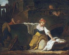 Young Washerwoman (Jean-Honore Fragonard - 1756)