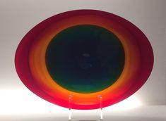 TIMO SARPANEVA - Art lass plate for Venini, Murano, Italy. - A Finnish designer.