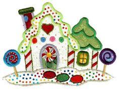 North Pole Village 2 Applique Machine Embroidered Quilt Blocks