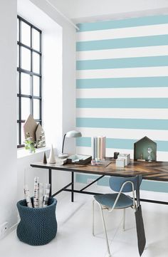 Geometric Stripe Pattern Self Adhesive Vinyl Wallpaper by Livettes, $34.00