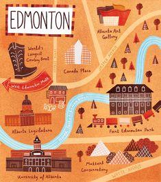 Edmonton, Alberta - Illustration & Design by Marisa Seguin