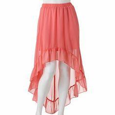 Candie's Hi-Low Ruffled Chiffon Skirt - Juniors