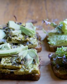 Herbed Tofu Club with Avocado & Chutney on Multigrain