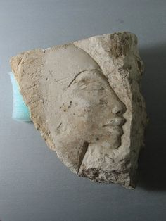 Head Medium: Limestone Place Excavated: Tell el Amarna, Egypt Dynasty: XVIII Dynasty Period: New Kingdom, Amarna Period Dimensions: 5 1/2 x 5 1/16 in. (14 x 12.8 cm)  (show scale) Accession Number: 37.404 Credit Line: Gift of the Egypt Exploration Society BROOKLYN MUSEUM