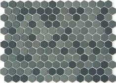 Lyric 1 x 1 Glazed Porcelain Mosaic Hex Tile in Delve Gray