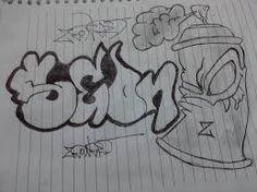 dibujos a lapiz de graffitis de te quiero  Buscar con Google