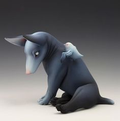"""In Erika Sanada's """"Cover My Eyes,"""" running through July 30 at Modern Eden Gallery in San Francisco, viewers find a new batch of ceramic sculptures from the Japanese artist. Sanada's """"dogs"""" ty…"""