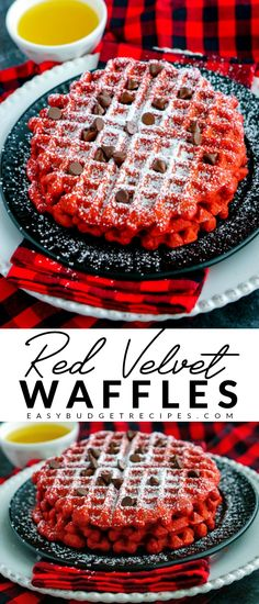 Could You Eat Pizza With Sort Two Diabetic Issues? This Red Velvet Buttermilk Waffles Recipe Is Easy And Perfect For Christmas Or Valentines Day. The Recipe Makes 8 And Costs Just 58 Per Waffle To Make Waffle Recipes, Brunch Recipes, Breakfast Recipes, Budget Recipes, Breakfast Ideas, Fluffy Waffles, Pancakes And Waffles, Dessert Party, Köstliche Desserts