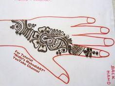 "YouTube Arabic mehndi henna design tutorial. Search ""Nidhi's MehndiART"" YouTube channel for all kind of mehndi henna design tutorial. #fashion #jewellery #trend #bridal #bride #wedding #marriage #festival #tradition #beautiful #girl #london #paris #canada #us #india #surat #ahmedabad #uk #arabic #floral #gulf #dubai #henna #mehndi #mehandi #art #drawing #tattoo #design"