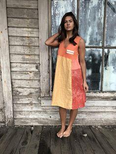 Molly dress-medium large-artsy-Eco Clothing-Upcycled