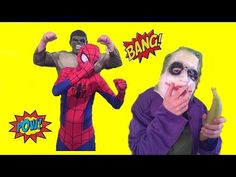 Spiderman vs Joker & Hulk BEST EVER NO.1 Superhero Fun Banana Prank - Porsche and duck - YouTube