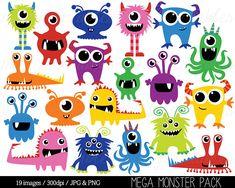 Monstruo gráfico monstruos Clip Art Clipart cumpleaños
