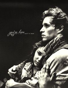 "Les Mis (2012) | ""...and you will keep me safe...and you will keep me close..."" Samantha Barks (Eponine) and Eddie Redmayne (Marius)."