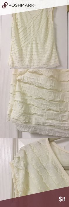 Cocomo Woman blouse Ruffle texture. Off white blouse. Not vintage but it has that style... Cocomo Woman Tops Blouses