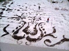 """Muster im Schnee: """"Ich mache das in meinen Pausen"""""""