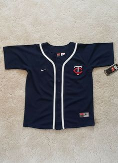 387ce5872ad Minnesota Twins Nike Button Up MLB Authentic Baseball Jersey YOUTH L Large  16 18  Nike  MinnesotaTwins