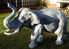 Animal Paper Model - Big Elephant Free Papercraft Download