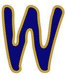 Cuerda marinero de la marina de estilo de letra del alfabeto w