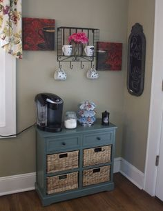 DIY coffee station....This would be nice for tea