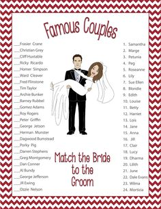 Bridal Shower Game                                                                                                                                                      More
