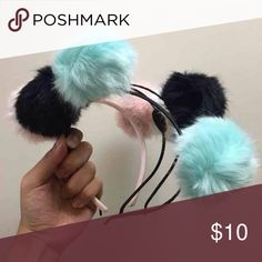 Pom Pom Headbands So kawaii!  Buy:  ONE for 10  TWO for 12 All THREE for 15  Please comment which and I will make a separate listing for you. Only ONE in each color so when they're gone, they're gone :)   Tags:  Cute Harajuku Ariana Grande Melanie Martinez  Unif Dollskill Urban Outfitters  Anime Japanese Accessories Pompom Accessories