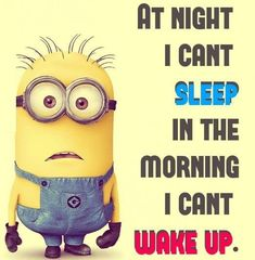 by Minion - Essential Oils With Betsy Bed. by Minion Bed. by Minion Source Funny Minion Memes, Minions Quotes, Minions Pics, Happy Minions, Minion Sayings, Despicable Minions, I Cant Sleep, Just For Laughs, I Laughed