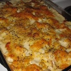 Creamy Potato Lasagna - http://allrecipes.com/recipe/18796/creamy-potato-lasagna/?internalSource=recipe%20hub&referringId=249&referringContentType=recipe%20hub