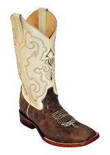 Ferrini Western Boots Mens Distressed Cowhide S Toe Chocolate 12693-52