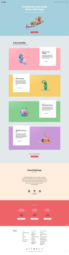 Web design inspiration. Colorful clean web design with subtle animations and transitions. #webdesigninspiration