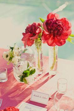 Single flower centerpieces