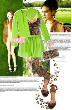 """""""Leopard and neon"""" by luigiamaria ❤ liked on Polyvore"""