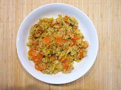 quinoa salad - carrot, leek and parsley