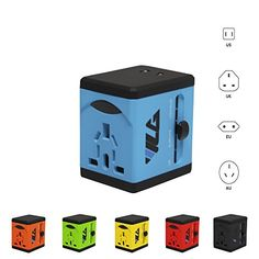 #1 Rated Travel Adapter and Charger - USB Charging Ports - All International…