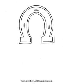 Horseshoe template-I used free BlockPoster.com to print this
