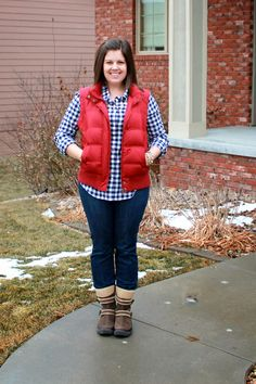 My New Favorite Outfit: Snow Boots and Vests