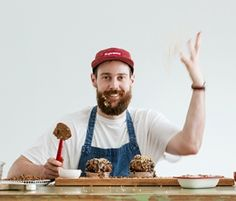 Chocolate Mud Pies by Andy Bowdy: Andy Bowdy's Chocolate Mud Pies are three layers of decadent chocolate heaven!. http://www.bakers-corner.com.au/recipes/desserts/chocolate-mud-pies-by-andy-bowdy/