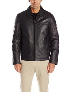 """Smooth lamb genuine leather laydown collar open bottom classic jacket       Famous Words of Inspiration...""""Forever is composed of nows.""""   Emily Dickinson — Click here for more from Emily...  More details at https://jackets-lovers.bestselleroutlets.com/mens-jackets-coats/leather-faux-leather/product-review-for-tommy-hilfiger-mens-smooth-lamb-leather-laydown-collar-open-bottom-jacket/"""